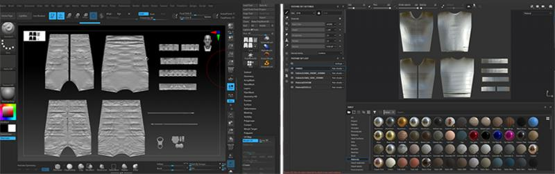 ZBrush and Substance Painter GUIs
